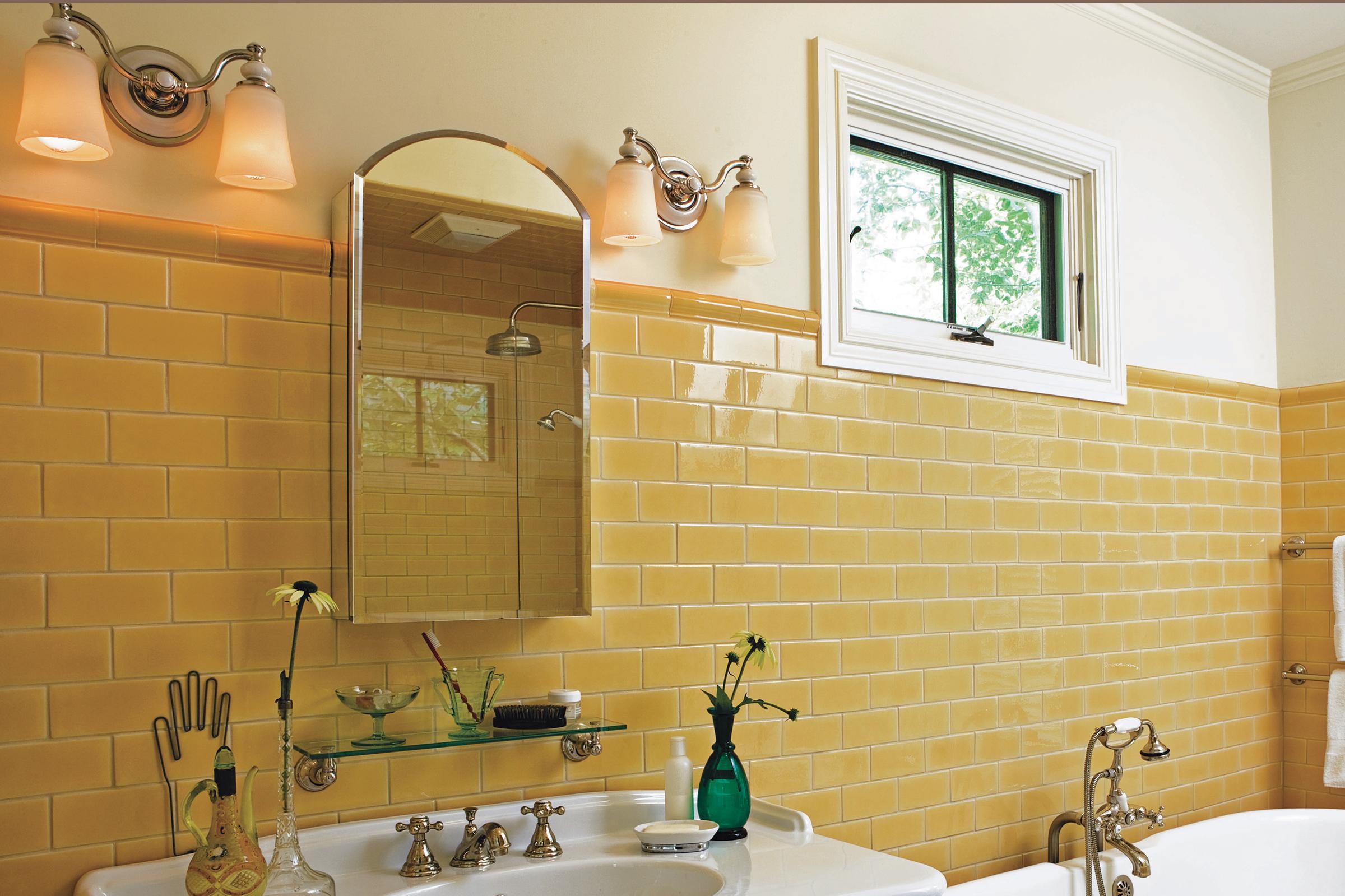 Painted bathroom vanities