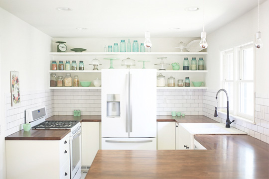 white fridge in kitchen. white fridge in kitchen n
