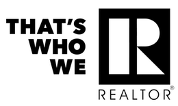 Black text with words That's Who We R Realtor