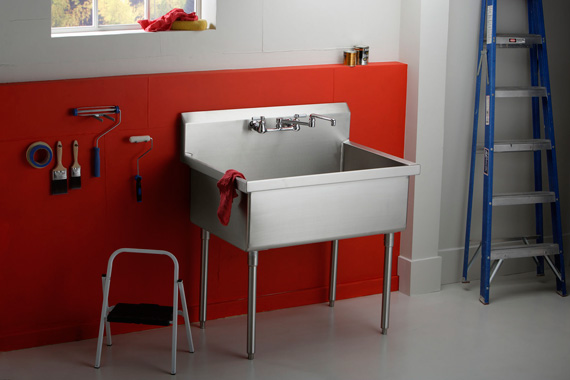 Best Utility Sink For Garage : Adding Plumbing To Studio Workshop Plumbing Additions HouseLogic