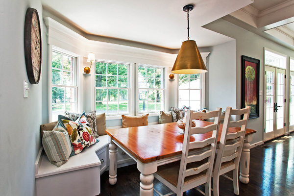 Bay window in a breakfast room