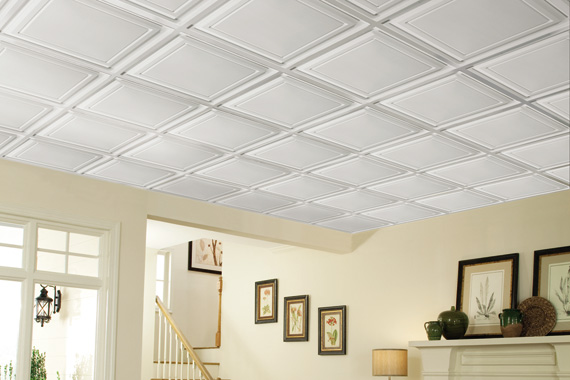 Basement ceiling ideas basement ceiling installation houselogic - Different types of decorative ceiling tiles you can find ...