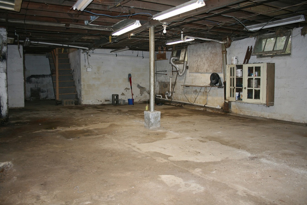Renovating The Basement Into Bedroom Ideas Musty basement before renovation
