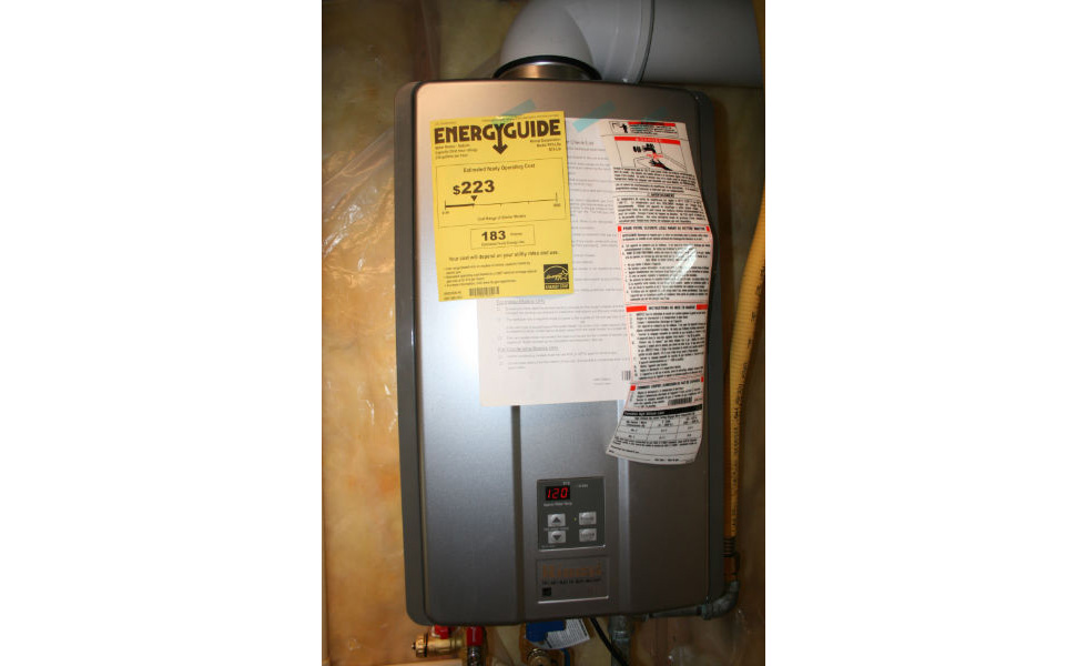 New tankless water heater in basement