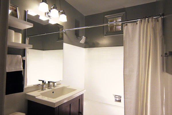 A small bathroom makeover before and after for Bathroom renovation before and after