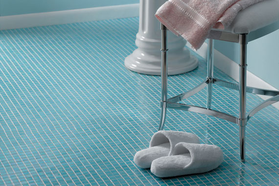 blue tile bathroom floor glass tile and ceramic tile bathroom flooring unlimited 17473
