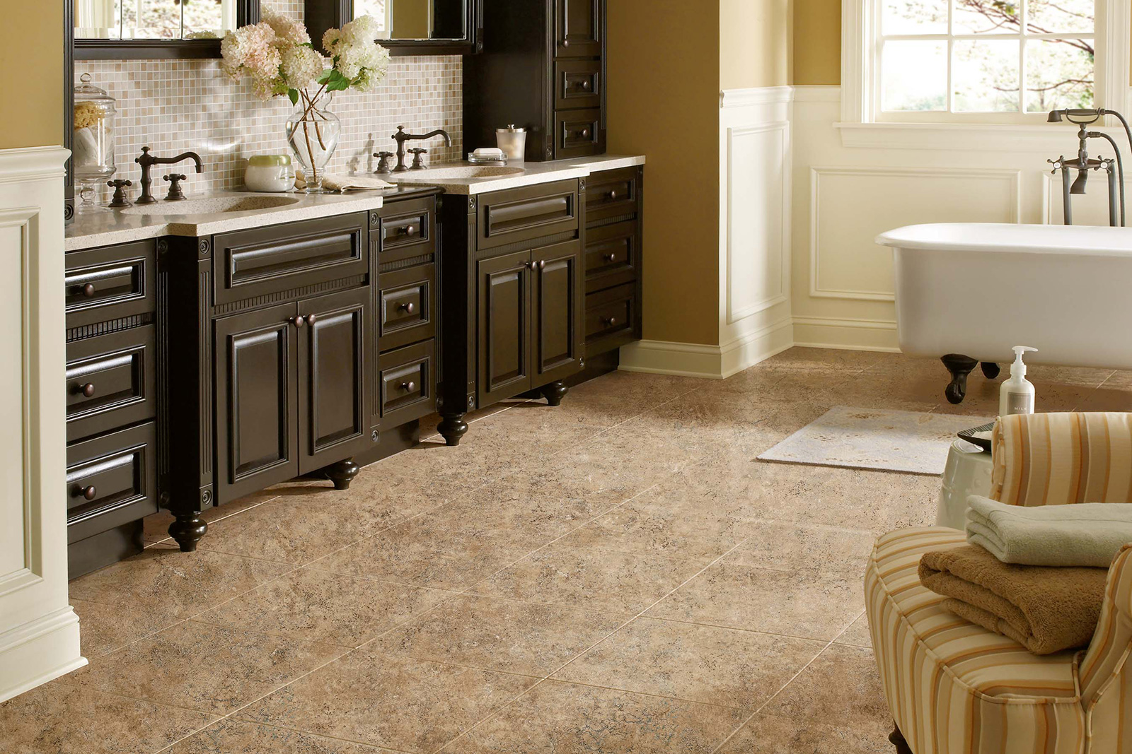 Non Slip Vinyl Flooring Kitchen Bathroom Flooring Bathroom Flooring Options Houselogic Bathrooms