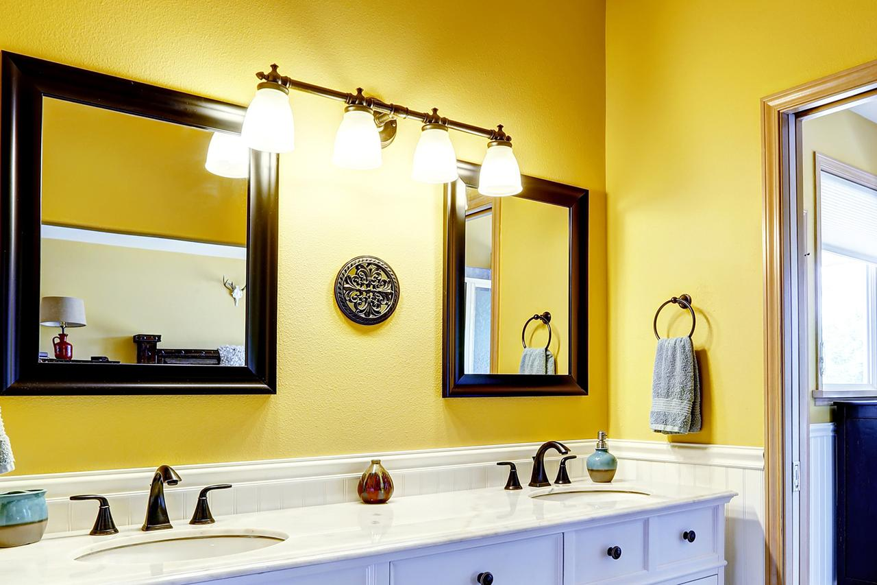 Bathroom materials bathroom wall material houselogic for Bathroom yellow paint