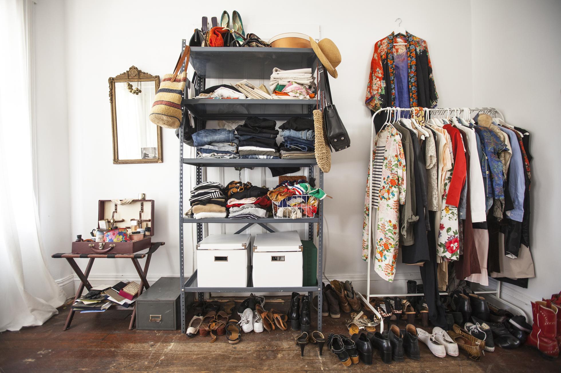 Overflow clothing storage