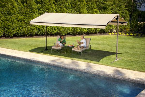 Portable Awnings Outdoor : Backyard shade summer houselogic