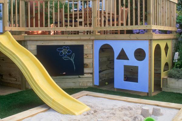 Build Playhouse Under Deck