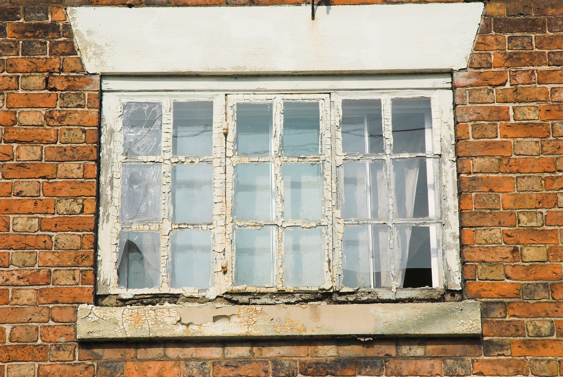 Rotting window at a home
