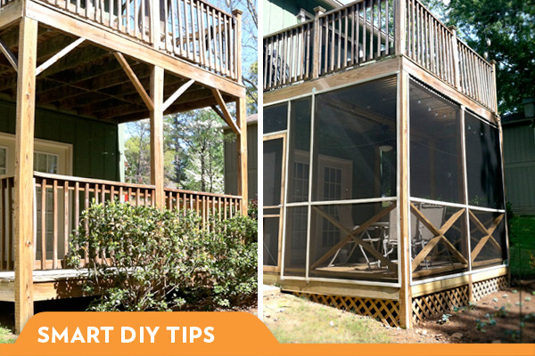 What i learned building a screened in porch for Building a front porch deck