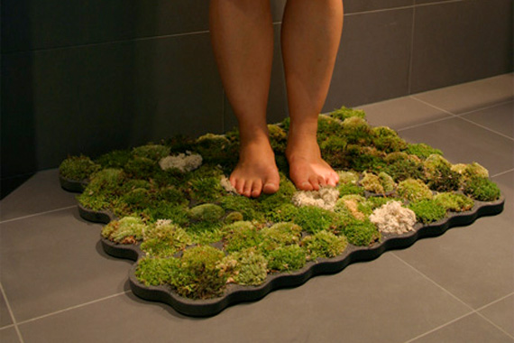 Moss Shower Mat | Moss Bath Rug | Green Bathroom