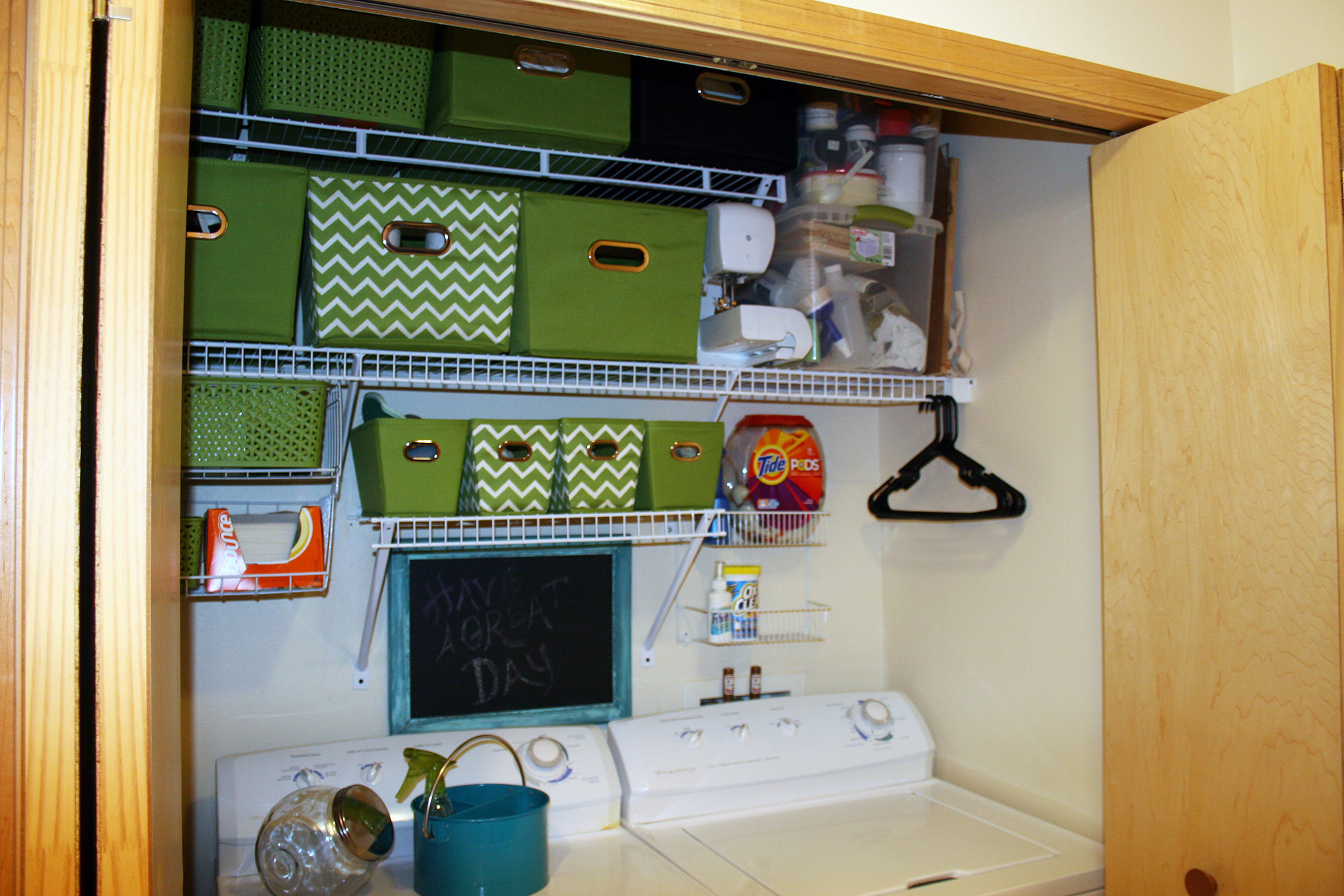 Closet converted to a laundry room
