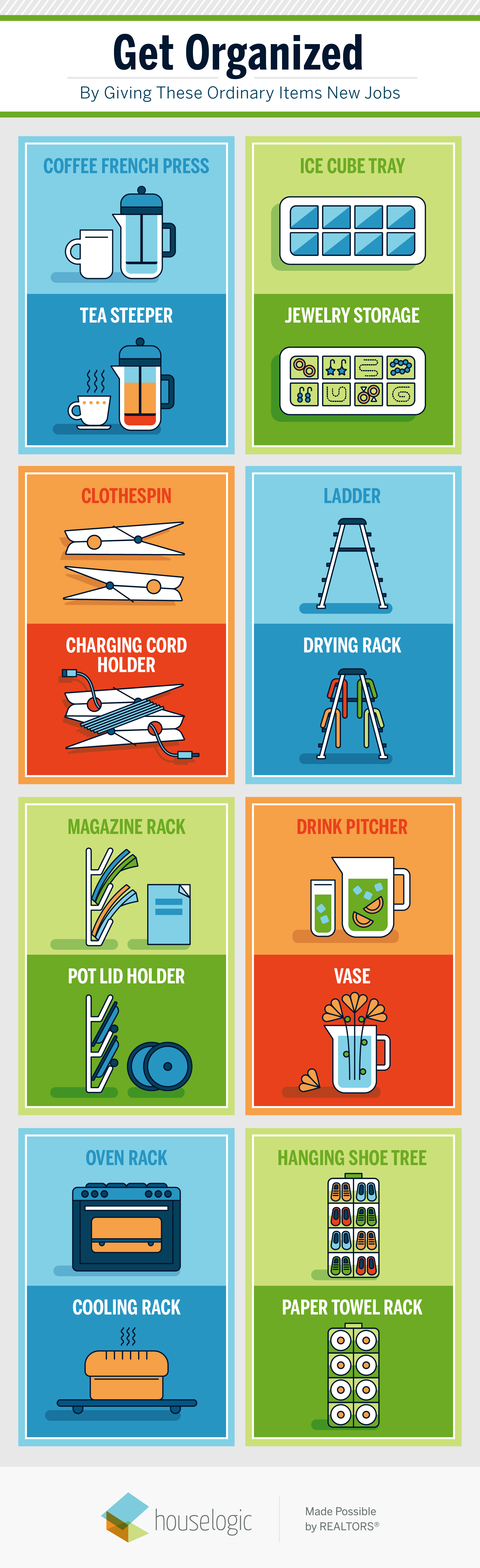 Clutter-free home infographic