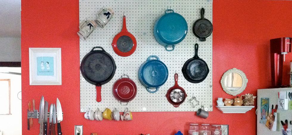 Küche-Pegboard