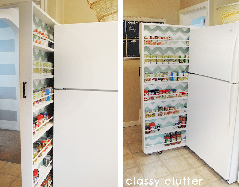 Classy Clutter's DIYed space-saving pantry