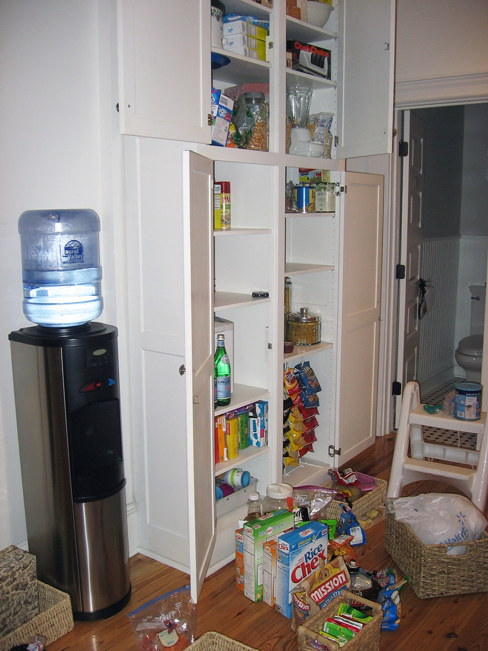 Pantry reorganization in progress