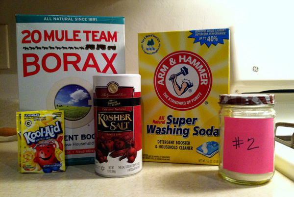 Recipe 2 ingredients dishwashing soap
