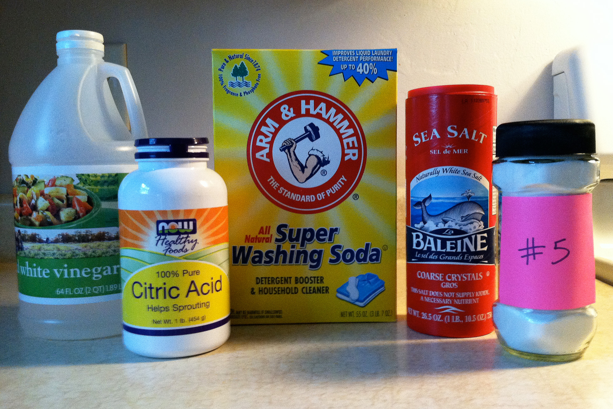 Recipe 5 ingredients dishwashing soap