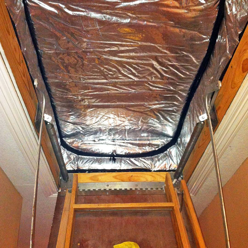Draft-Out insulation cover on attic stairs | DIY Insulation