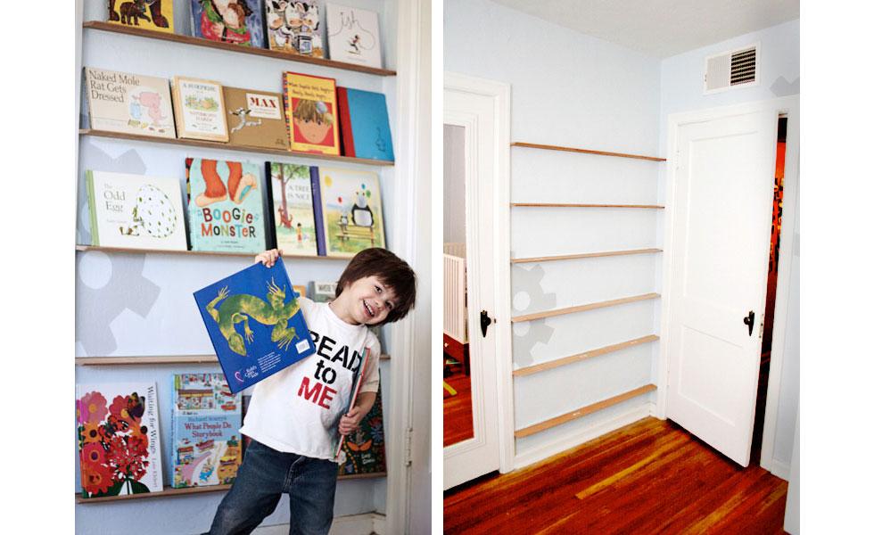 DIY kids bookcase in Tried & True's house