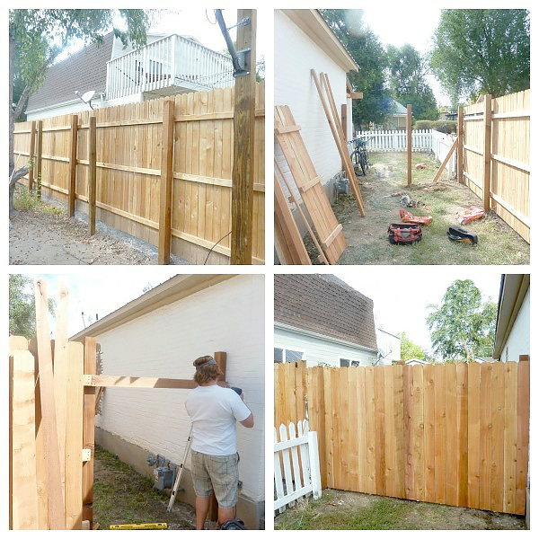 DIY wood fence created by blogger