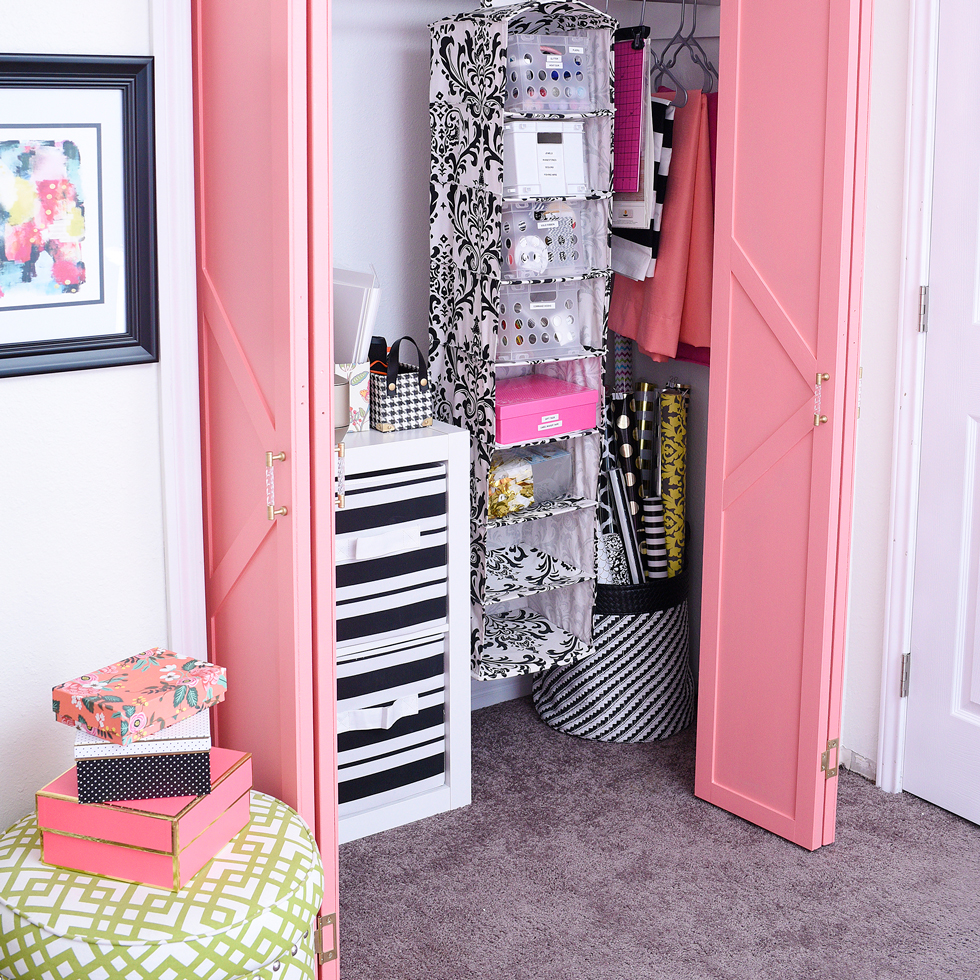 Door Wallpaper | Closet Door Makeover | Washi Door Tape