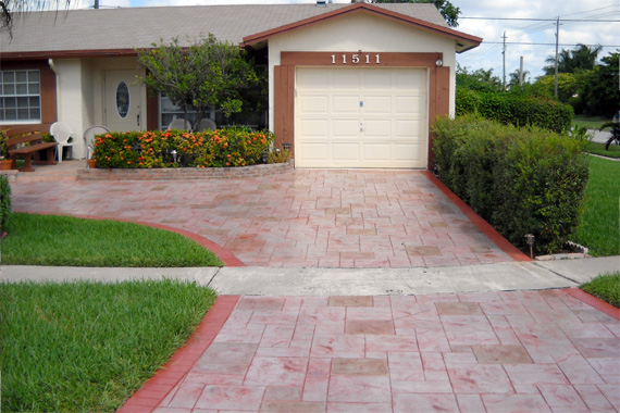 americas 9 coolest driveway designs evercolor to dye for - Concrete Driveway Design Ideas