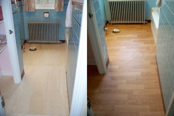 Easy LowCost Bathroom Makeovers - Inexpensive bathroom flooring
