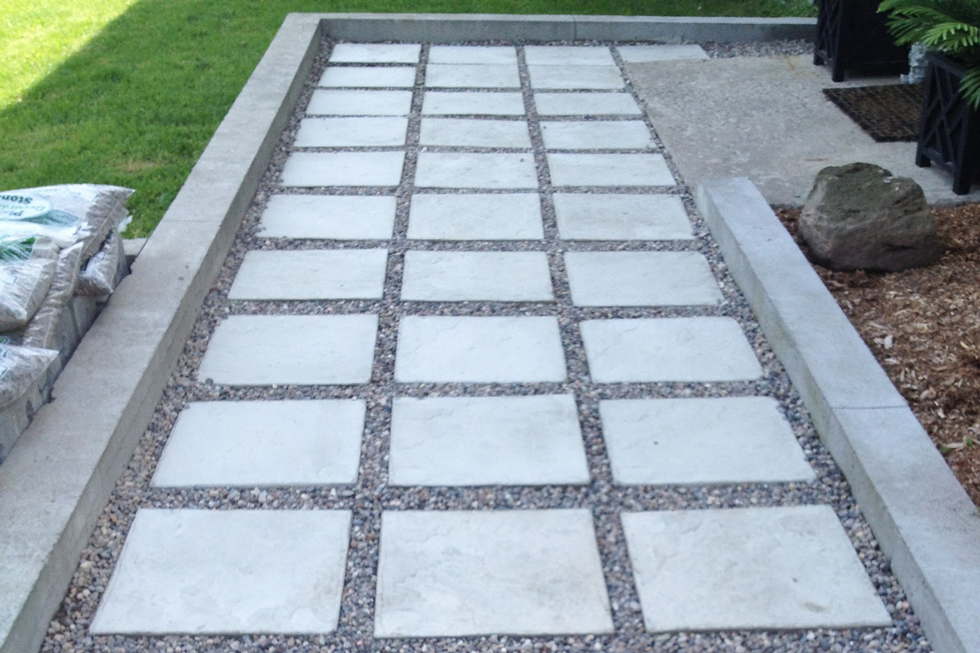 Concrete pathway leading to front door