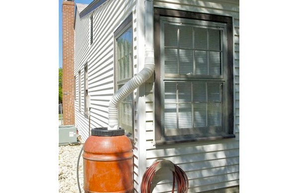 Rain barrel energy efficiency