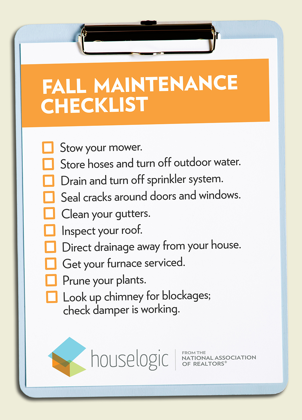 Fall Home Maintenance Checklist To Get Your Home Ready For Winter