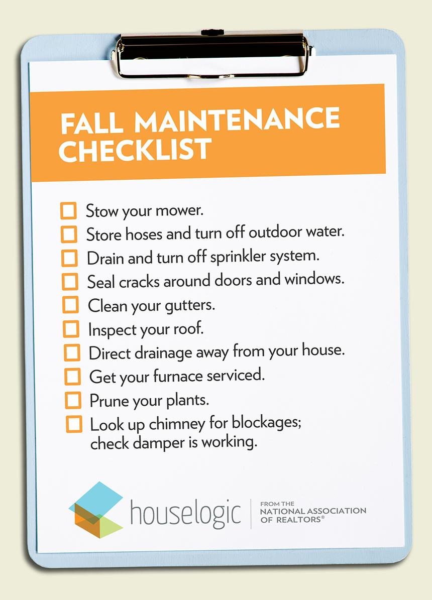 Image result for fall home maintenance checklist