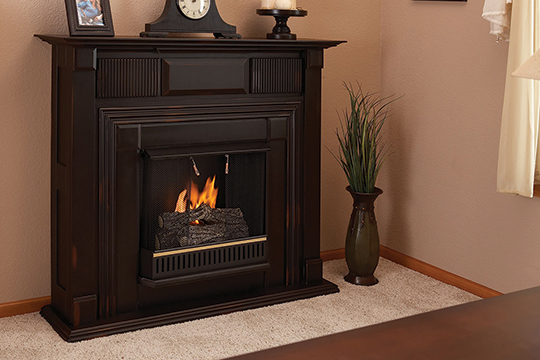 Propane and Ventless Fireplaces | Chimneyless Fireplace Facts