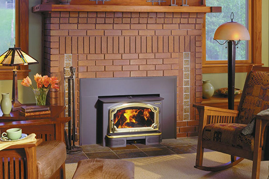 Most heat generated by an open fire goes right up the chimney. A wood-burning fireplace insert installation keeps the good vibes while driving down your energy costs.