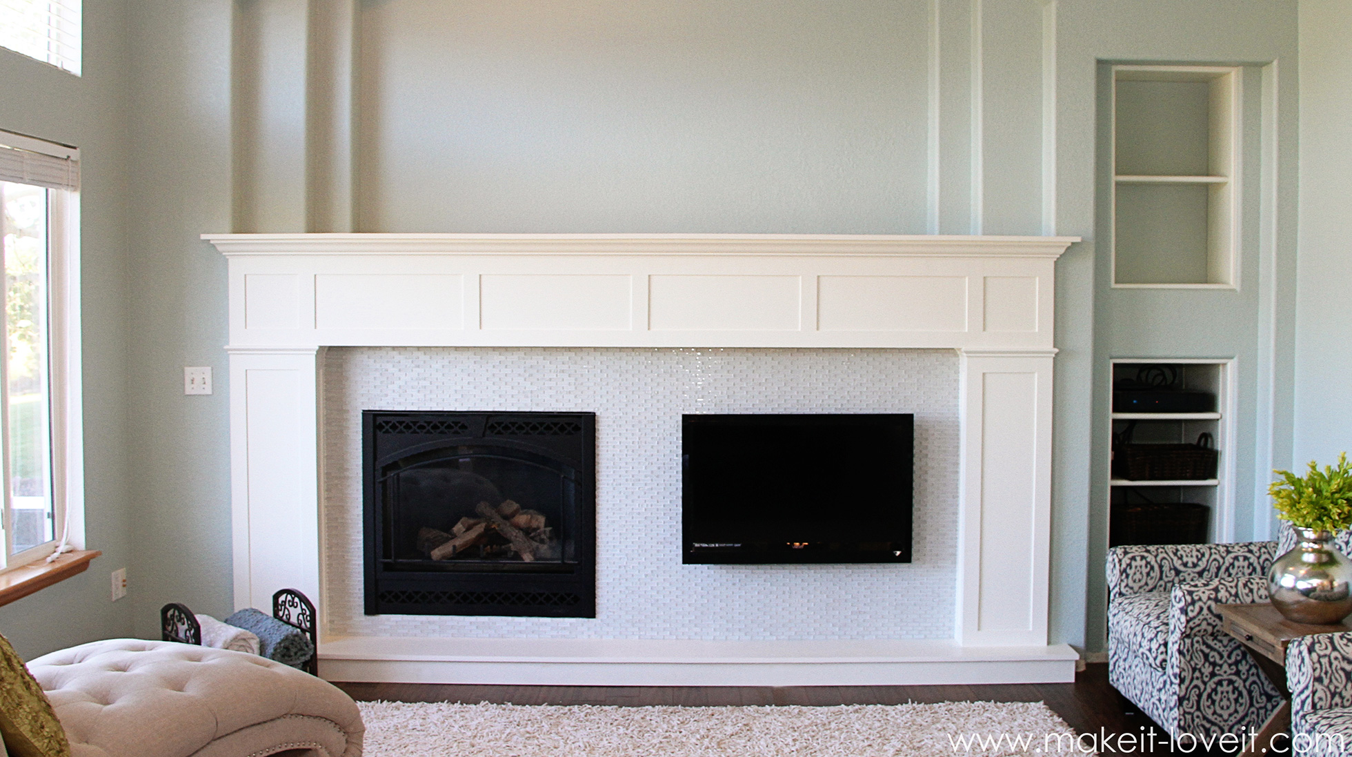 After Craftsman fireplace makeover