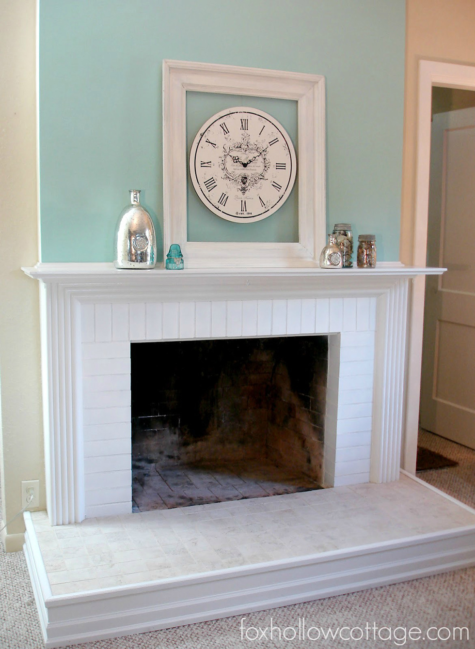 install room diy to week how fireplace tile one cement challenge