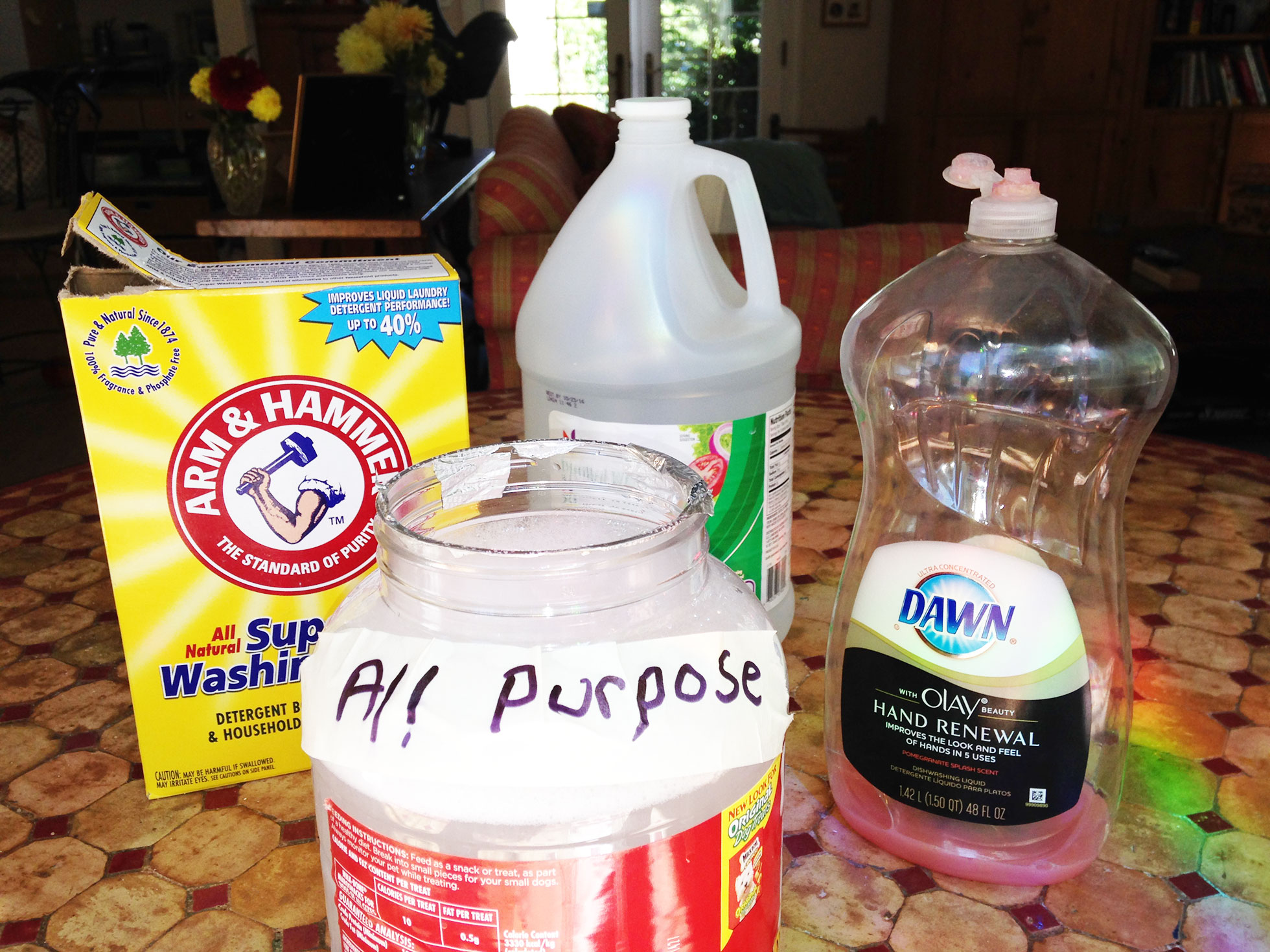 Ingredients for DIY floor cleaner