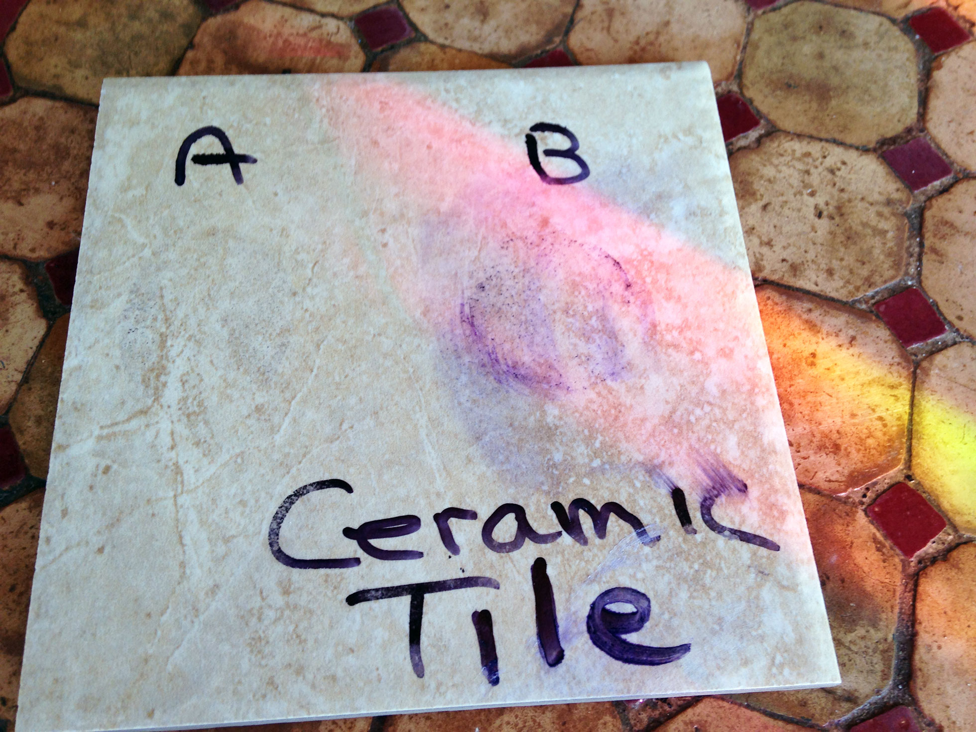 Ceramic tile floor cleaner DIY test after