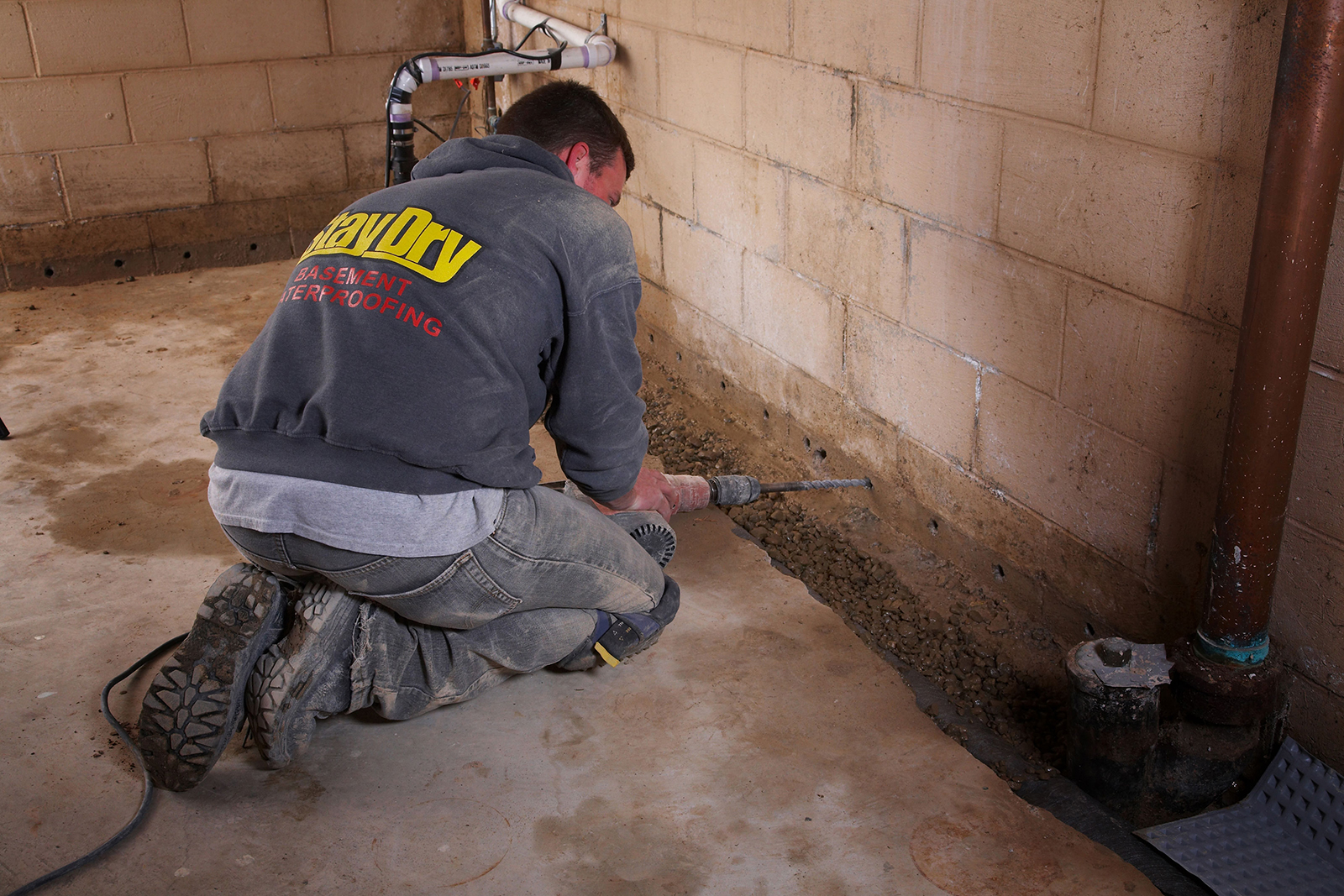 & French Drains Basements | French Drain Basement Solutions