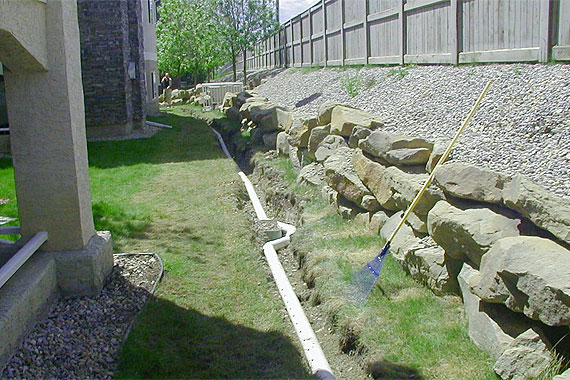 French Drain Design Curtain Drain Designs French Drains