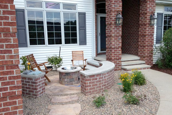 Front Patios Design Ideas tropical front yard patio design idea Garden Design With Front Yard Patios Add Livability And Curb Appeal With Fall Landscape Pictures From