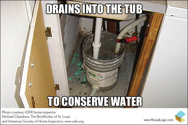 Funny Fail Drains Into The Tub To Conserve Water