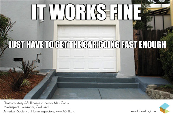 funny fail meme stairs garage NEW_b1a3bf2f1ad51a037f59ea70527cbe10 funny fail this garage driveway works just fine