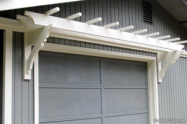 Trellis Tops Garage Door And Gives It Instant Interest