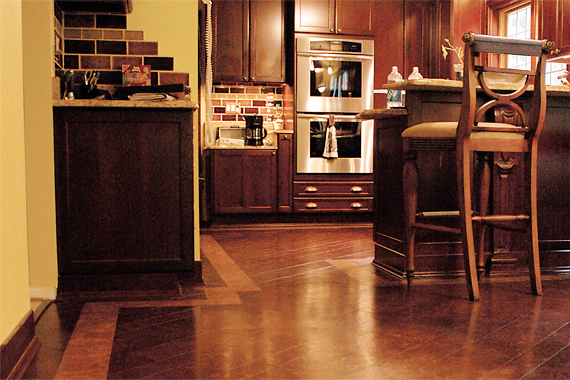 Green kitchen flooring eco alternative kitchen flooring for Kitchen linoleum tiles
