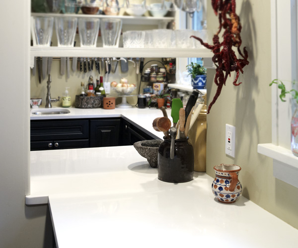 Quartz countertops in a chef's home kitchen