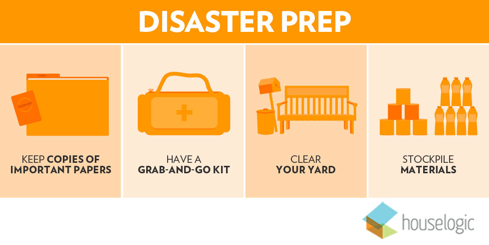 Home evacuation checklist infographic